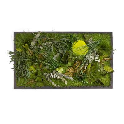 """Moosbild """"Dschungel"""" - 100 x 60 cm - Holzfaserplatte anthrazit"""