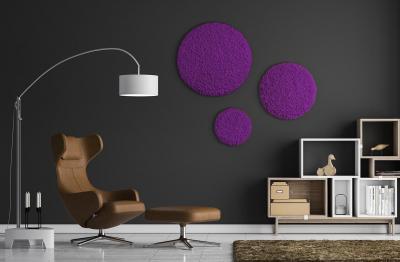 Moos ´Circle´ 3er Set Islandmoos Purple (78er, 60er & 40er)