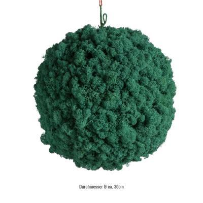 Moosballs mit Islandmoos - Karibik Hellblau- 30 cm Durchmesser