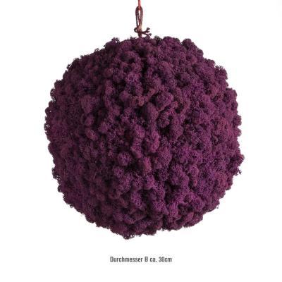Moosballs mit Islandmoos - Purpur Lila - 30 cm Durchmesser