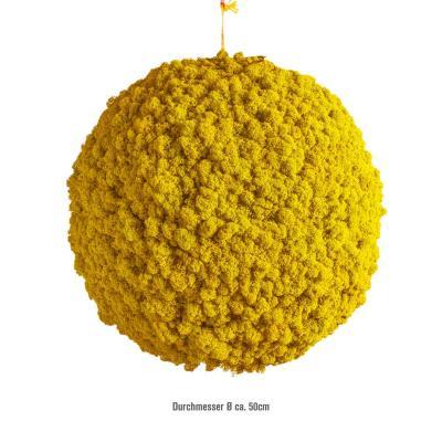 Moosballs mit Islandmoos - Sonnengelb - 50 cm Durchmesser
