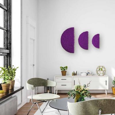 Moos ´Half Moon´ 3er Set Islandmoos Purple randbemoost (78er, 60er & 40er)
