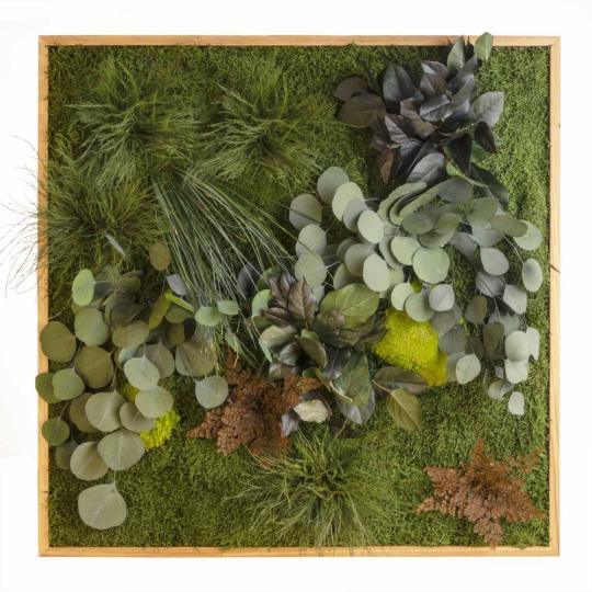 """Moosbild """"Dschungel"""" - 80 x 80 cm"""