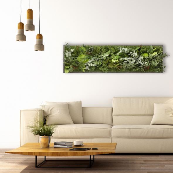 """Moosbild """"Dschungel"""" - 140 x 40 cm"""