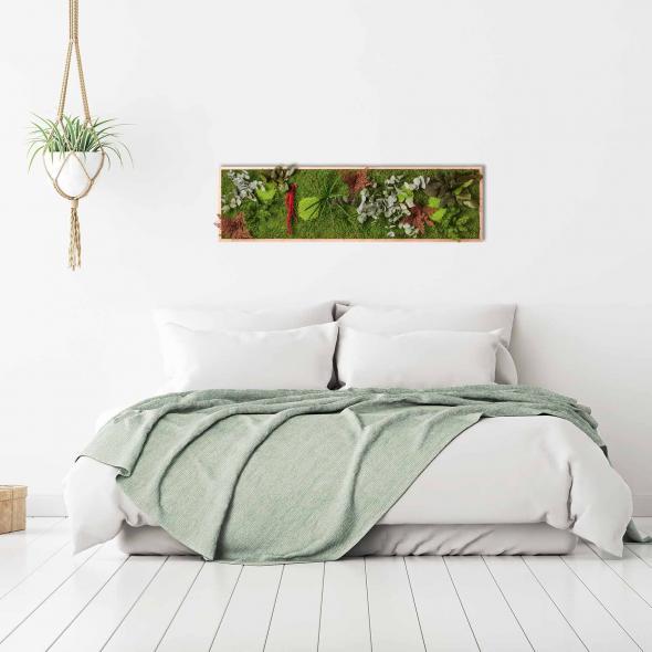 "Moosbild ""Pflanze"" - 140 x 40 cm"